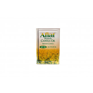 AFIAT BRAND PURE CANOLA COOKING OIL  18L 纯花籽油